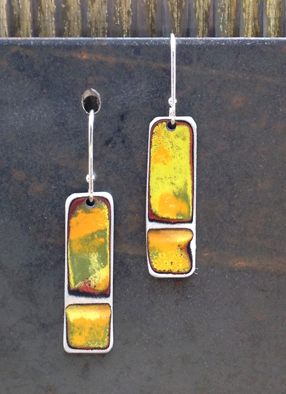 "SSSE - 1"" Single Short Sticks with 5/8"" Sterling Earwires :  : Peggy Petrey Abstract Wares Jewelry"