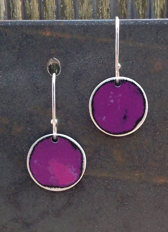 "SCE - 3/4"" Single Flat Circles with 5/8"" Sterling Earwires :  : Peggy Petrey Abstract Wares Jewelry"