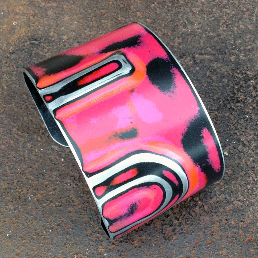 "WC - 1 3/4"" Wide Cuff :  : Peggy Petrey Abstract Wares Jewelry"